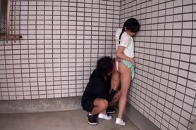 Tiny asian fingered before getting pussylicked