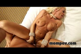 Big tit blonde milf fucking cock in hotel for facial