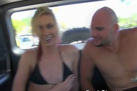 Skinny Blonde In Bikini Sucking Dick In Back Seat For C