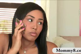Cute teen Katt Dylan shares her bf to her stepmom Rio L