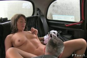 Beautiful British abe fucked in fake taxi