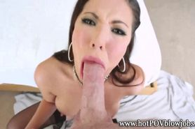Greedy girl eating pov pole