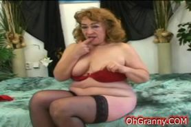 naughty granny getting hot and wet