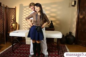 Cute asian teen girl Miko Dai fucked by pervert masseur