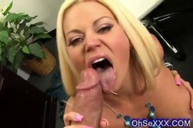 Slutty sexy blonde boss deep on a huge cock