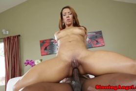 Ebony babe loves bbc in her tight ass