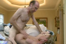 Pretty Blonde Teen Girl Gets Banged By Old Man