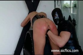 Horny slave girls fist fucked by their master