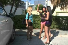 Amateur Girls Flashing For Cash In Money Talks Stunt Ou