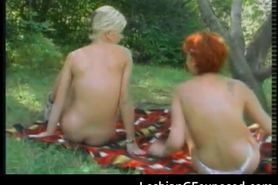 Outdoor lesbian babes sex camping part2