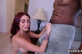 Redhead Monique Alexander fucked by big black cock