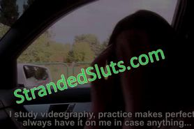 Brunette busty babe Kira Fucked hard by the driver she
