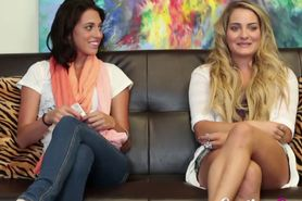 Casting couch x babes in threeway action