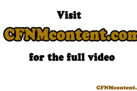 Femdom cfnm teases cock before anal fucking