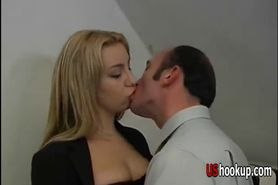 Horny blonde loves getting some coc