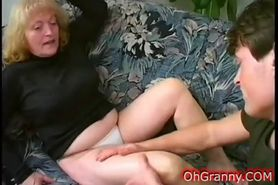 busty blonde granny fingered