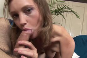 Blowjob loving hottie swallowing slong