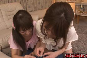 A hot japanese threesome where these two horny japanese