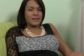 Amateur brazilian transsexual plowed roughly