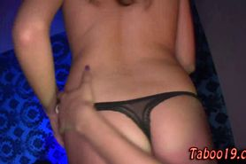 Stepteen cock rubbing party taboo