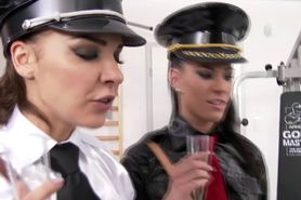 Euro cfnm police babes roughly wank bbc