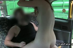Redhead amateur babe fucked in fake taxi