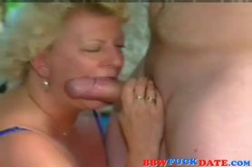 Older couple has kinky sex with each other