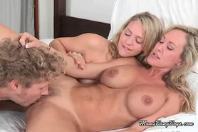 Lucky Guy Gets Dirty With Two Fresh Sluts
