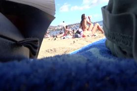 Spying on hot beach girls