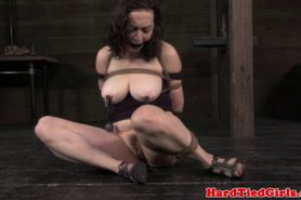 TT sub getting caned while restrained