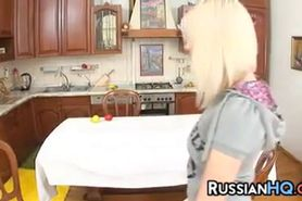 Russian Teen Fucked In A Kitchen