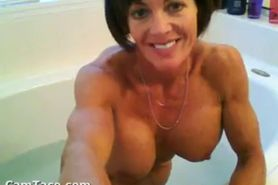 Hot Granny Taking A Bath