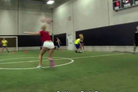 College Girls Start Sucking Dick On Dodge Ball Field