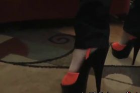 Sexy mature feet in high heels