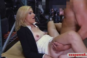 Sexy amateur blonde milf pawns her pussy for money
