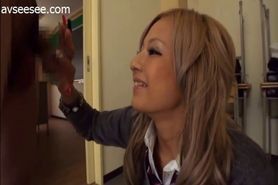 Japanese Handjob in the Classroom