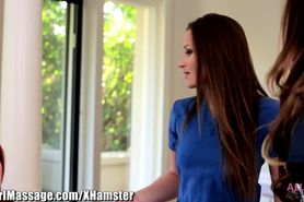 All Girl Massage Cop Kortney Kane trades Dani sex for s
