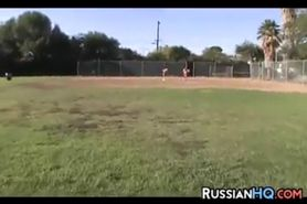 Russian Teen Cheerleaders Having Fun