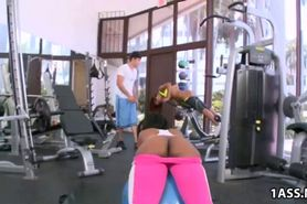 Fat ass babes fucked in the gym