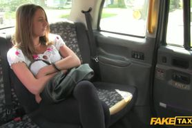 Real eurobabe facialized when fucked in public cab