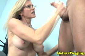 MILF cockrub lover jerking dick