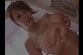 Busty asian nurse undressing