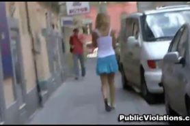 Skirt pulled down in public