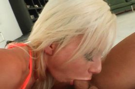 Smashing blonde taking a large cock deep in her butt ho