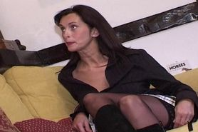 Angie George the swinging milf takes two cumshots from