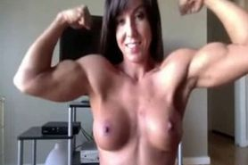 Fitness cam model topless flexing