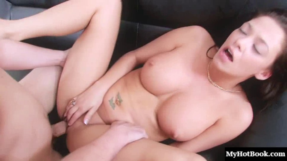 Babe Malezia rides a large cock deep in her tight pussy