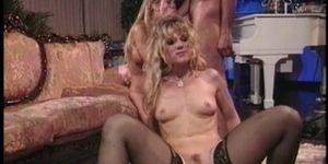 Two blonde pornstars fucked hard side by side
