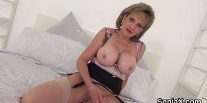 Unfaithful British Mature Lady Sonia Unveils Her Big Gl