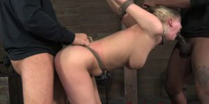 BDSM slut Cherry Torn punished roughly
